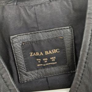 Zara Jackets & Coats - Zara faux leather jacket with gold hardware